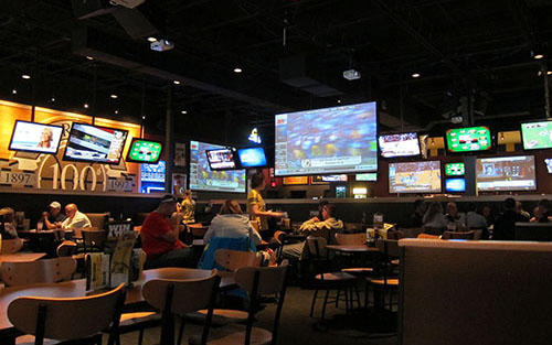 Example Of Commercial Audio Visual Installation In Restaurant