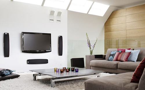 Deluxe Home Theater Installation With In Wall Mounted Speakers